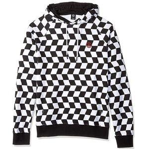 NWT NEFF checkerboard black white hoodie checker M